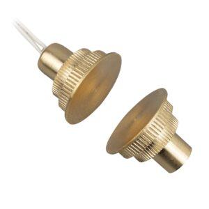 Contatto Magnetico VG-CI20LP da Incasso in Ottone Profilo Ribassato